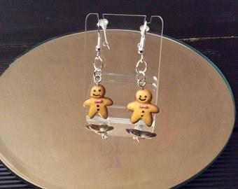 Gingerbread Men earrings