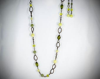 Green(Olive) and Brass Asymmetrical - GN19