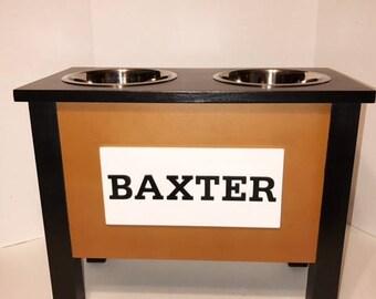 Elevated Dog Feeder, Personalized Dog Bowl, Dog Bowl, Pet Furniture, Raised Dog Bowl Feeder, Elevated Dog Bowl Feeder, Dog Lover Gift