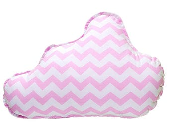 Pillow Cloud - Pink ZigZag