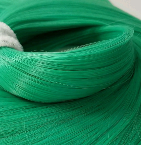 NEW! Jaded Vibrant Jade Green Nylon Doll Hair Hank Rerooting Barbie Monster High, Ever After, Crissy, FR Blythe Dawn Rehair My Little Pony