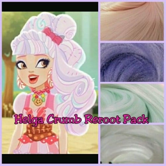 Ever After High Helga Crum Custom Doll Nylon Hair Re-root Pack for Customizing your Doll INTL Shipping