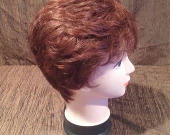 Dark Red Envy Wig, layered shag, free shipping