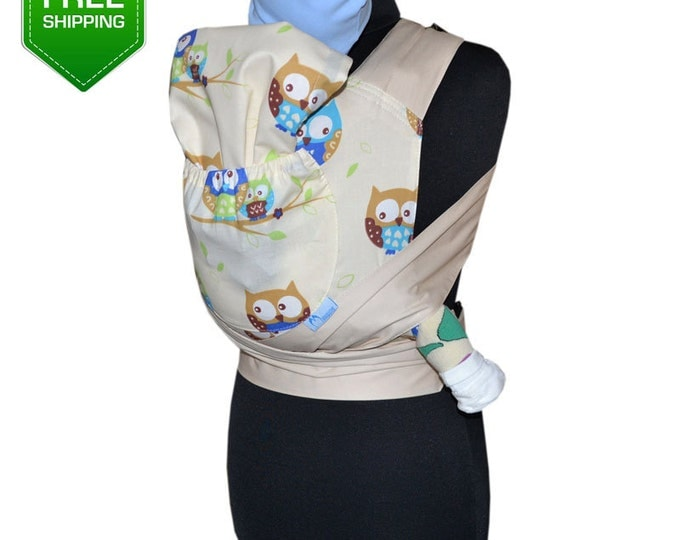 Mei Tai Beige Owls, Baby Carrier, Baby Carrier Wrap, Mei Tai Baby Carrier, Toddler Carrier
