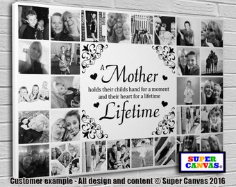 A Mother themed personalised bespoke Canvas Print with 28 pictures