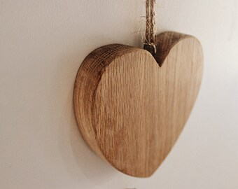 Valentines Love Heart Gift - Oak