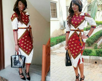 African Clothing,African Dress,Ankara dress, Multicolored dress, African fashion, African print dress, Sunday Wear, cute dress