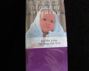 Beautiful Satin Blanket Binding 4 3/4th yards