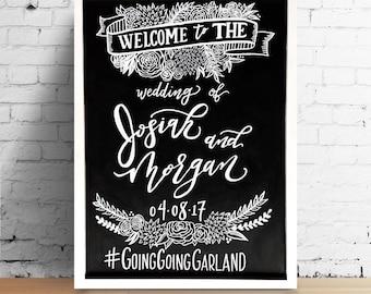 Custom Wedding Chalkboard Welcome Sign