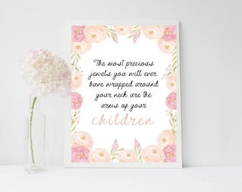 Precious Jewels - Children - Mothers day Print