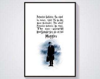 Newt Scamander Quotes,Fantastic Beasts and Where to Find Them,We call them Muggles,Potter Quote,No-Maj,Porpentina Goldstain Quote,Non-Wizard