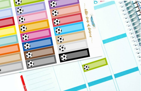Soccer Labels || Sports Stickers, Soccer Game Stickers, Planner Labels, Label Stickers, Functional Planner Stickers, Planner Decor