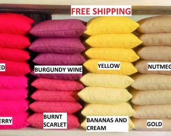 64 Corn Hole Bags   40+ Colors    Free Priority Mail     Use These For A Fund Raiser
