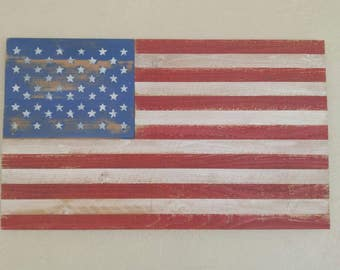 American flag - distressed/weathered finish