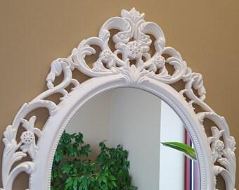 Baroque Mirror Ornate White Nursery Large Wall Shabby Chic