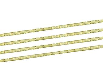 5 metre serpentine chain gold 0.8 x 0.7 mm - string gold - string gold serpentine