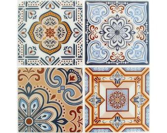 4 stickers tiles cement 12 x 12 cm - Stickers tiles cement - tile adhesive cement - tile sticker - 22002025