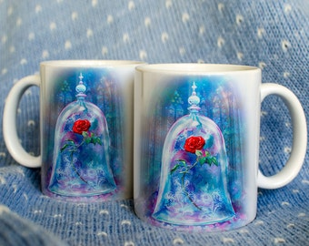 Enchanted rose from Beauty and the Beast Mug by Takila