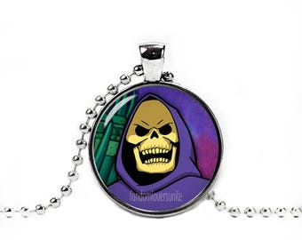 Skeletor Pendant Necklace Masters of the Universe  He-Man Fandom Jewelry Fangirl Fanboy