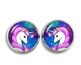 Unicorn Stud Earrings Unicorn  12mm Earrings Fandom Jewelry Kawaii Geeky Fangirl Fanboy