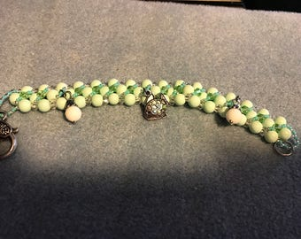 Ocean Theme Crystal Beaded Bracelet