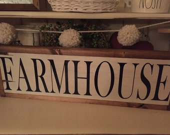 Farmhouse Sign {block lettering}
