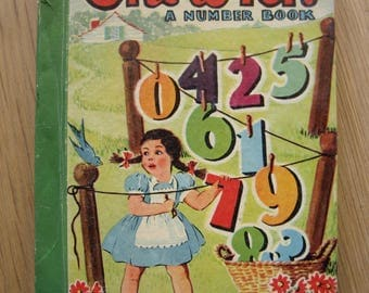 One to Ten A Number Book by McLoughlin Bros Inc Vintage Children's Book Little Color Classics – Illustrations by Gillette French 1942