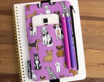 Planner Accessories - Dog Planner Sticker Bag - Bullet Journal Cover - Journal Pen Holder - Planner Pouch - Planner Cover - Planner Band #60