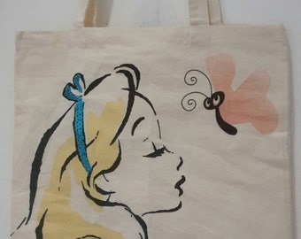 Disney Alice in Wonderland sequin tote bag.