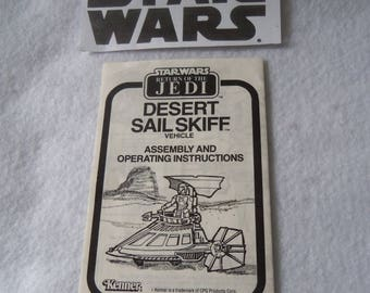 Star Wars Desert Sail Skiff Vehicle Instruction Booklet