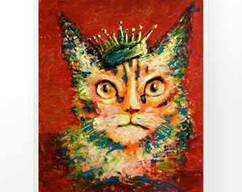 King of The Cats Popart by OnAcrylic.com