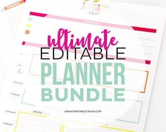 Ultimate Editable Planner Bundle Set of 5 (20%off!)