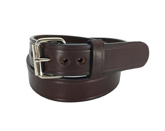 USA Made Concealed Carry New Creased BrowCCW 30 Dollar Gun Belt Thick Full Leather