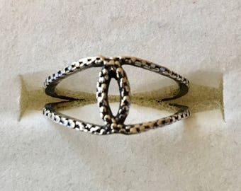 USA FREE SHIPPING!! Sterling Silver Textured Ring