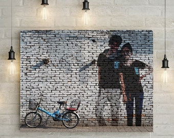Custom Couples Portrait/ Mural Effect from Photo - Great Anniversary / Wedding Gift idea Canvas Print or Printable
