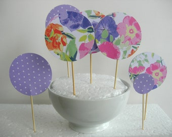 11 Cupcake toppers or dessert.