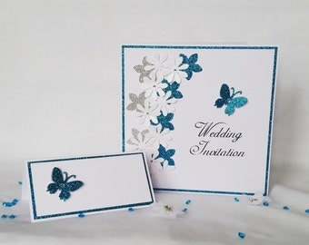 Elin glitter wedding stationery