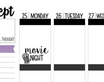 Movie Night Planner Stickers