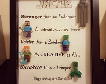 Personalised Minecraft Gift