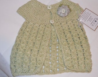 1 -2 Year Old Girls' Light Green Cardigan