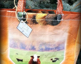 Recycled Grain Bag Totes