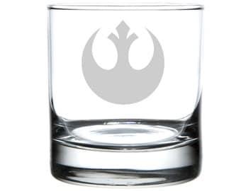 Rebel Cause, Star Wars tribute, Laser engraved barware