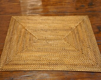 Handmade Rattan Medium Brown Placemat Dining Table Place Setting