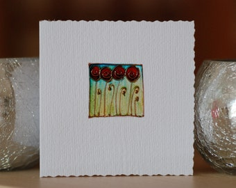 Poppies- Handmade card