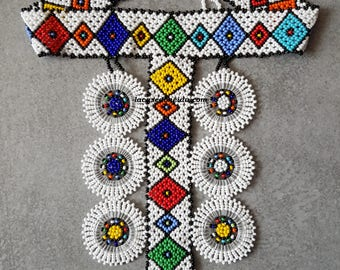Zulu bib Choker necklace