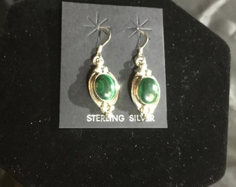 Sterling Silver with Malachite