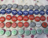 50 Various Beer Bottle Caps -Recycled-Crafts, Jewelry