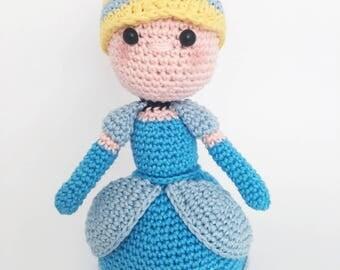 Cinderella crochet doll pattern english/dutch
