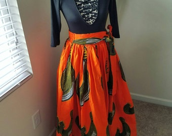 Ankara Inspired Maxi Skirt