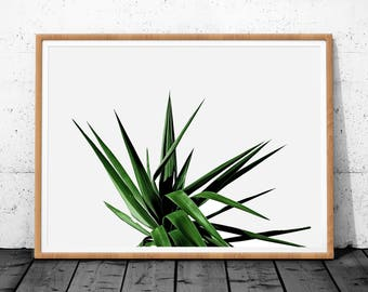 Tropical Leaf Print, Leaf Art, Green Leaf Print, Green Wall Art, Green Art, Leaf Decor, Tropical Leaf, Leaf Printable, Botanical Print, Art